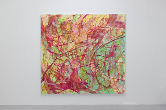 我是四川人。我哪个都不怕。我怕哪个?2021. Acrylic on canvas, 200 x 210cm