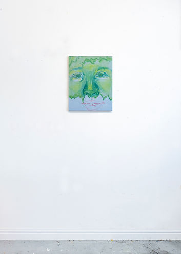 Install Untitled (Cucumber face), Acryli