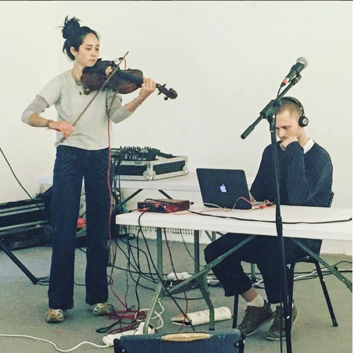 Small press project - Vowels in motion, performance