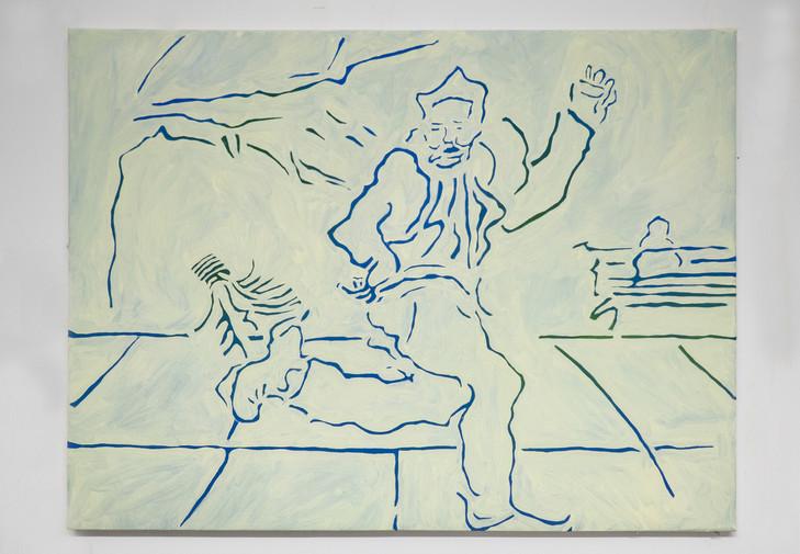 Eleanor Wang, Jianzi, Oil on canvas, 101.5 x 76cm
