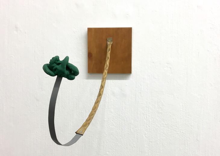 Springtime, 2017. Plasticine, copper, wood