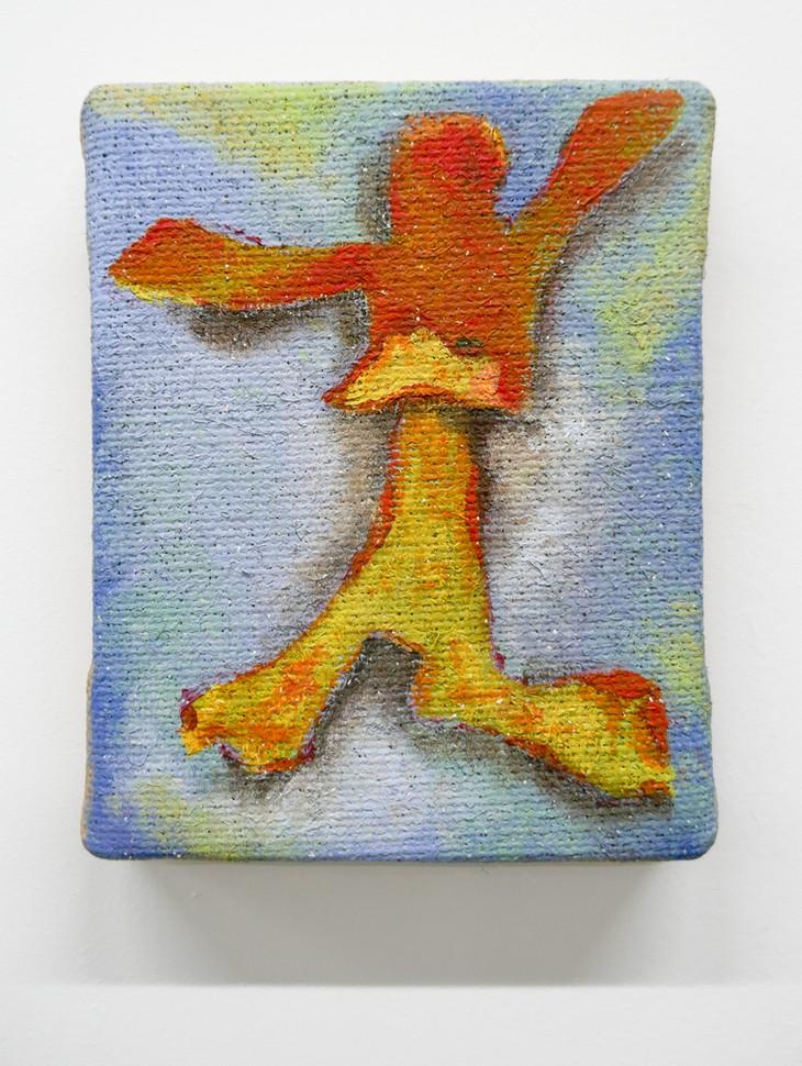 Orange Peel Man, 2017. Oil on hessian