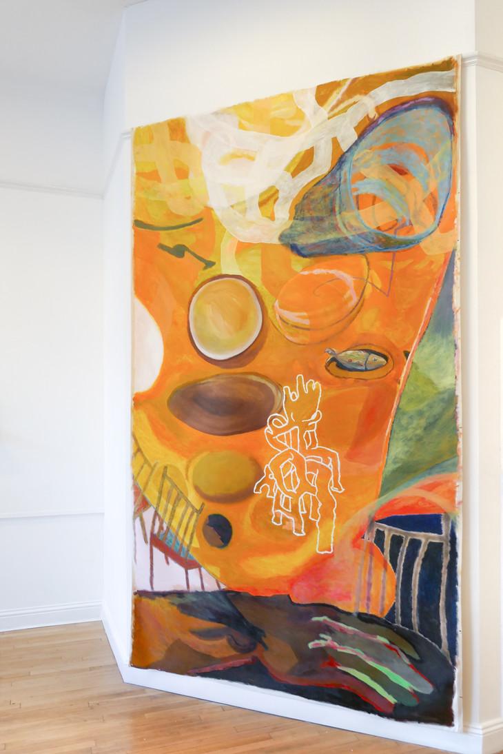 Mulch, 2019. Oil on canvas, 300 x 190cm