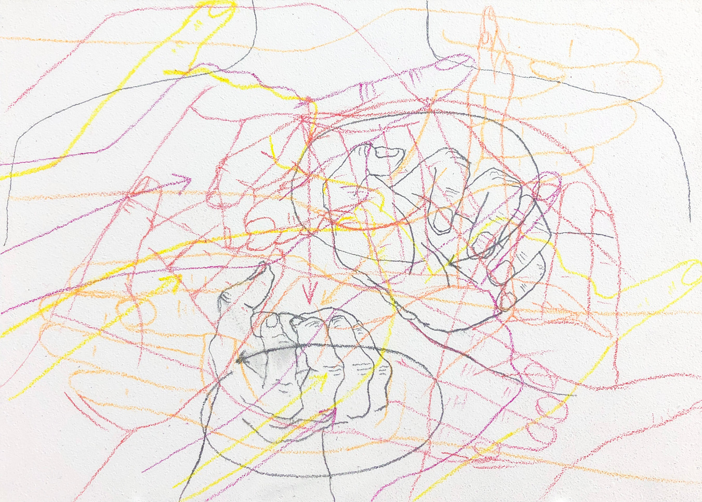 Eleanor Wang, Signed feelings, Pencil on panel, 17.8 x 12.7cm