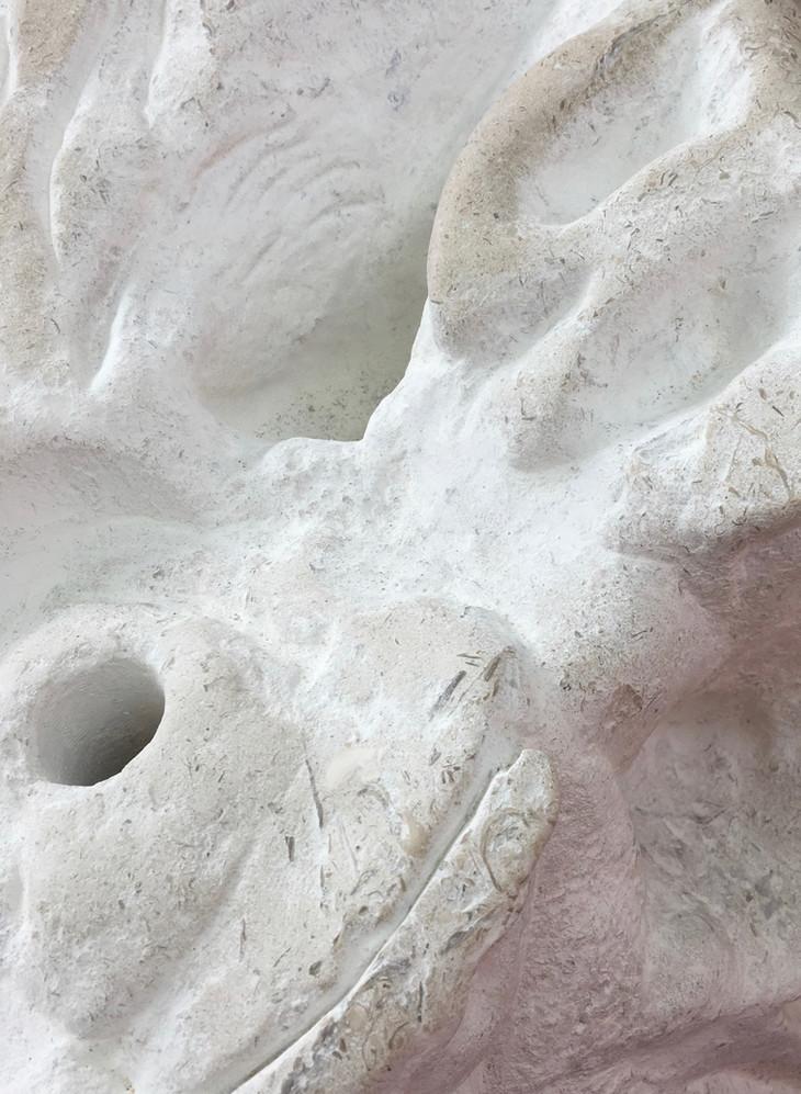 Eleanor Wang, Bellybutton (Detail), 2018, Portland Stone