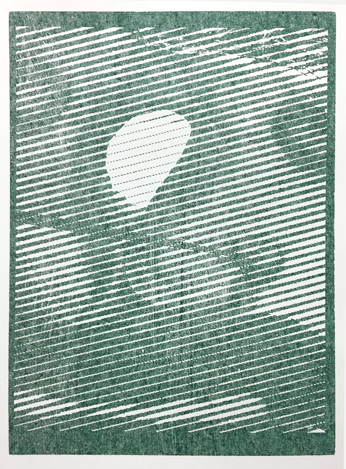 Foam, 2017. Woodcut print