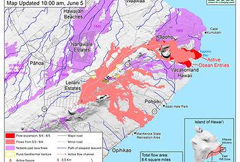 Kapoho lava flow map