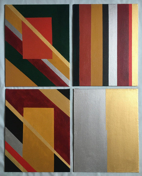 COLOR AND SHAPE PLAY/ 4 panels