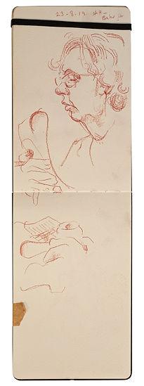 23-8-19 HOH - Baker Street.Tube Traveller drawing. Simon Page