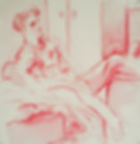A Harrow Journey - Druries, 9pm, 5-12-14. Crayon and wash on paper. Simon Page