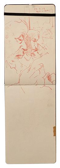 23-9-19 Bkr Street - HOH.Tube Traveller drawing. Simon Page