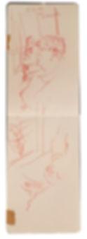 6-4-19 HOH - Rickmansworth. Tube traveller drawing. Simon Page
