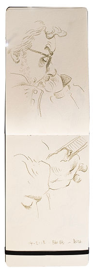 14-2-18 Baker Street-HOH. Tube traveller drawing. Simon Page