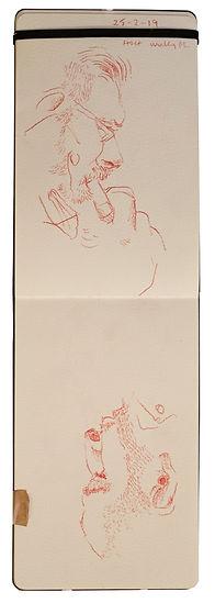 25-2-19 HOH - Wembley Pk.Tube Traveller drawing. Simon Page
