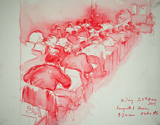 Racquets 1, Harrow, Maths AS, 24-5-13. Crayon and wash on paper. Simon Page.jpg
