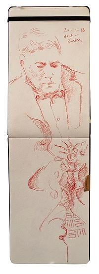 20-11-18 H)H - Euston.jTube Traveller drawing. Simon Page