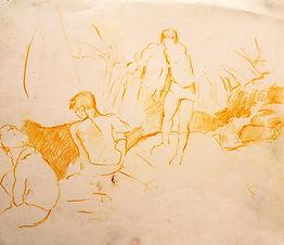 Plunge Pool V, Ville hautes, 2011. Crayon on paper. Simon Page