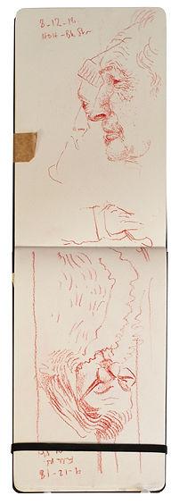 8-12-18 HOH - Bkr Street.Tube traveller drawing. Simon Page