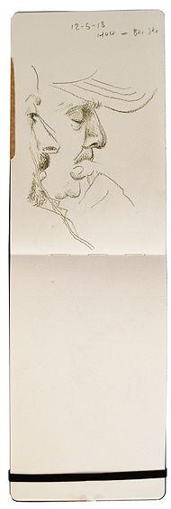 12-5-18 HOH - Bkr Street.Tube traveller drawing. Simon Page