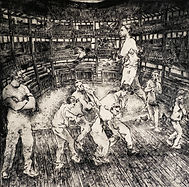 Twelfth Night, The Globe. Drypoint