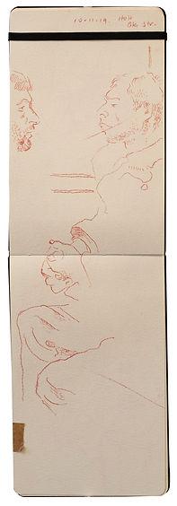 10-11-19 HOH - Baker Street.Tube traveller drawing. Simon Page