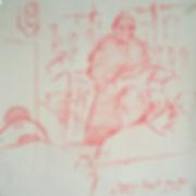 A Harrow Journey - The Sermon, Chapel. Crayon on paper. Simon Page