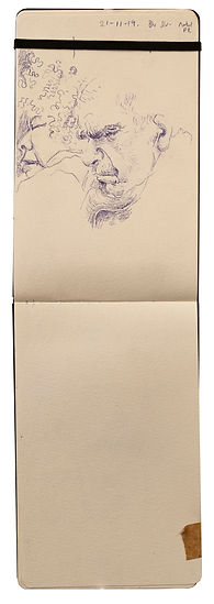 21-11-19 Bkr Street - Wembley PK.Tube Traveller drawing. Simon Page