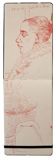 27-1-19 Euston Rd - HOH.Tube Traveller drawing. Simon Page