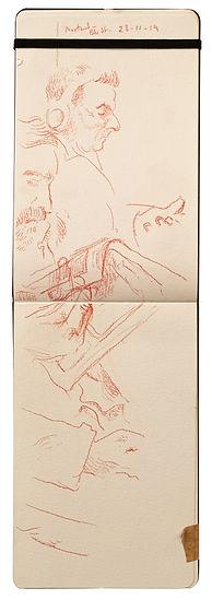 28-11-19 Northwood - Bkr Street.Tube Traveller drawing. Simon Page