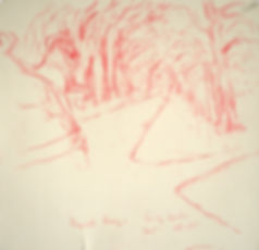 Long Ducker, A Harrow Journey - Long Ducker, The Start of the Race, Hyde Park, 15-11-15. Crayon on paper. Simon Page