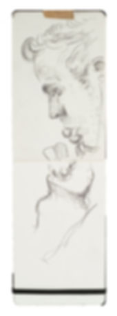 Tube Travellers- Met Line Crayon on paper. Simon Page