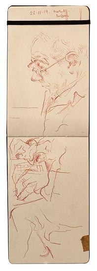 22-11-19 Northwood - Barbican.Tube Traveller drawing. Simon Page