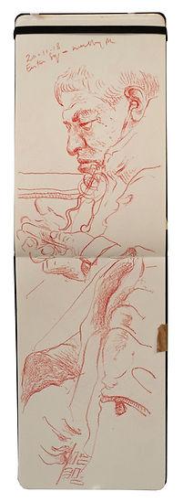 20-11-18 Euston Sq - Wembley Park.Tube Traveller drawing. Simon Page