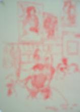A Harrow Journey - Shell English Trial, CJFB's Room, 10-6-15. Crayon on paper. Simon Page.