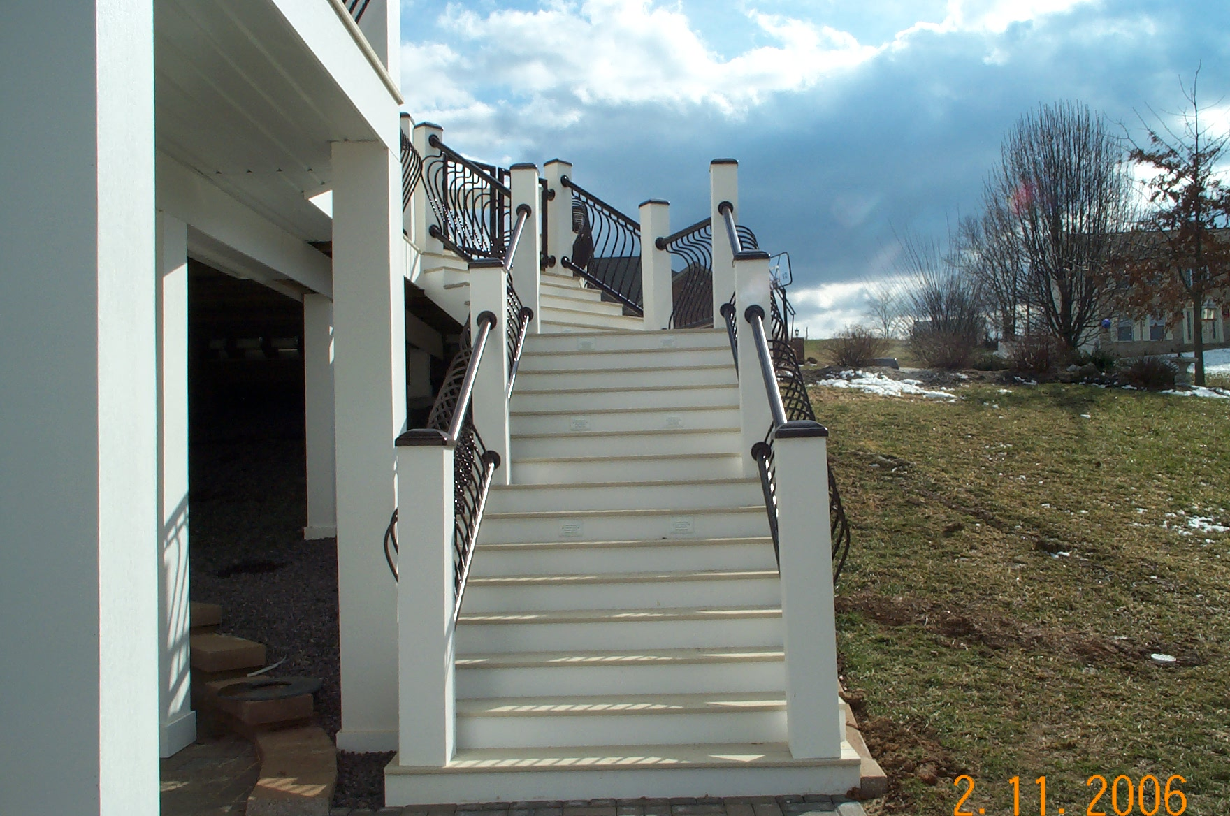 stairs deck white