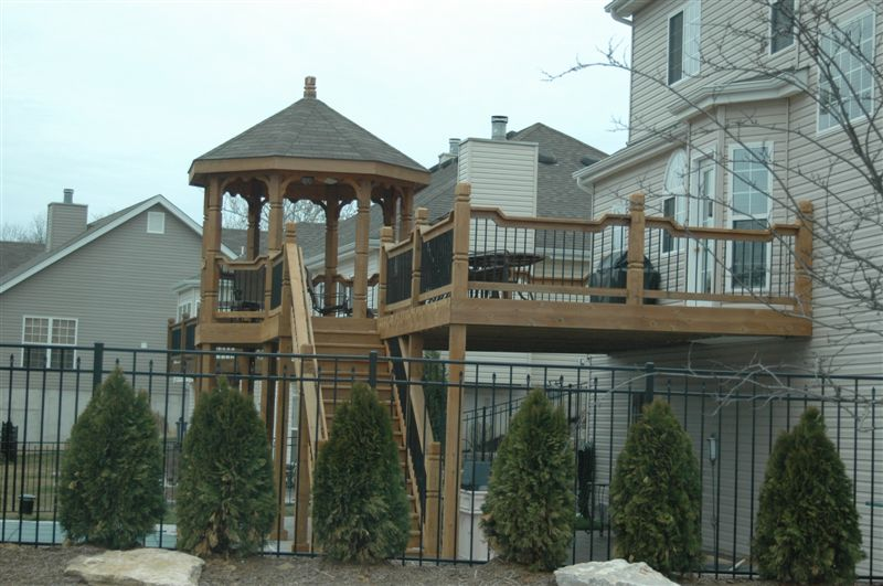 deck gazebo drop rail