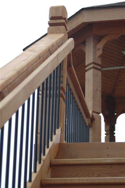 hand rail cedar