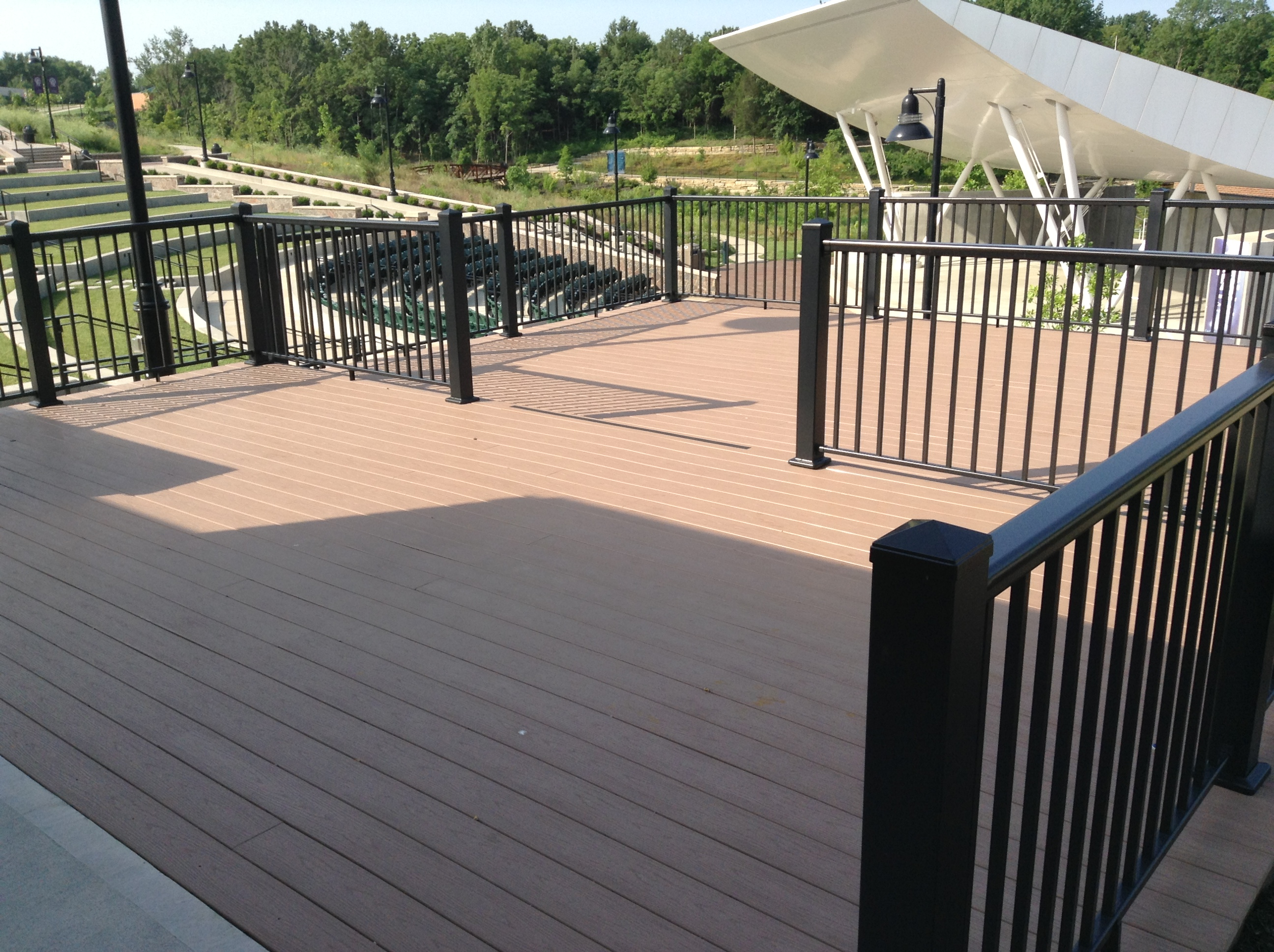 Deck and handrails composite