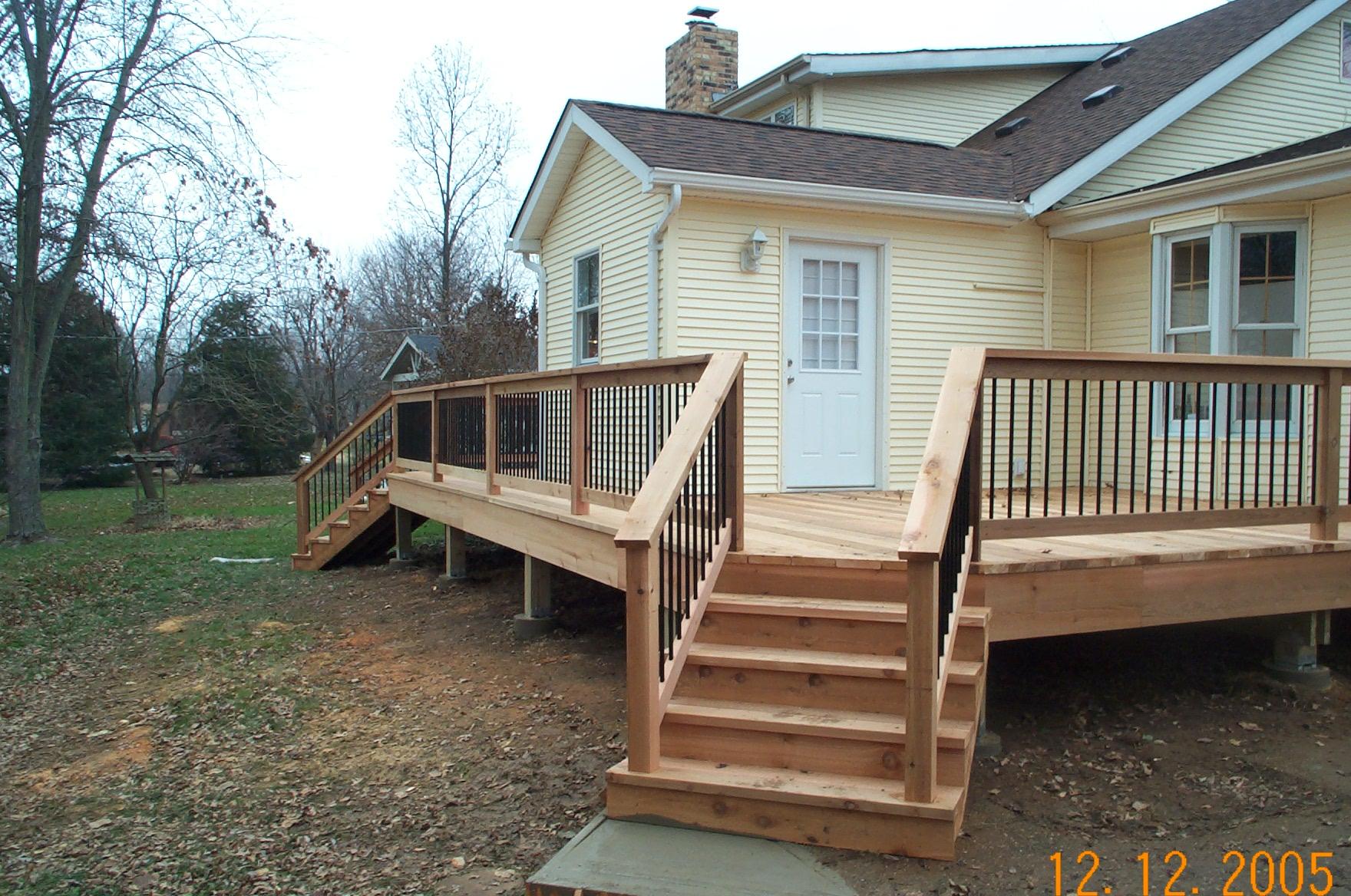 angled stairs cedar