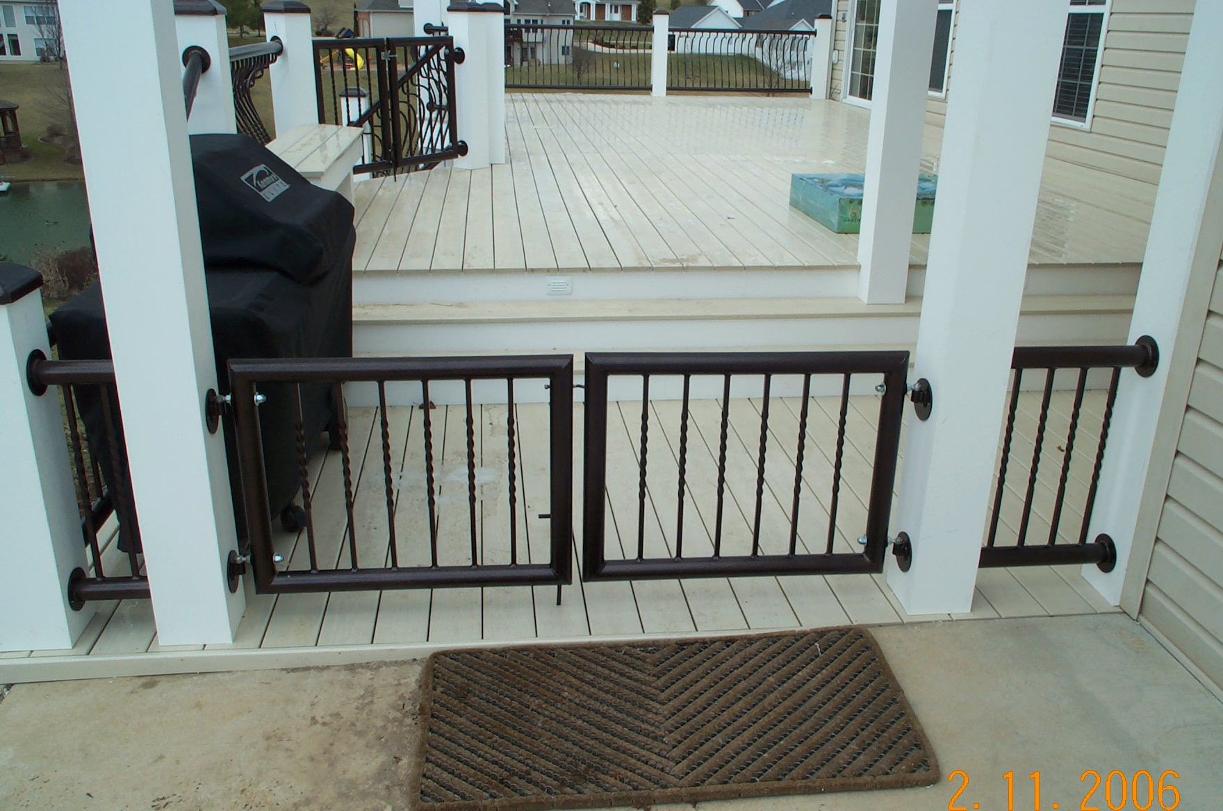 deck stair baby gate