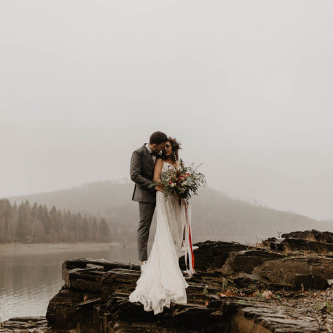 After-Wedding Shooting in the Rain