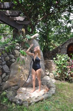 Outdoor Shower Girl