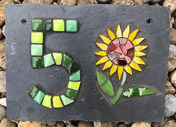 mosaic_house_number_5 _with_sunflower.jp