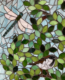 Tree_of_life_mosaic_sparrow_dragonfly.jp