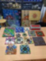 Mosaics in studio December 2015.JPG