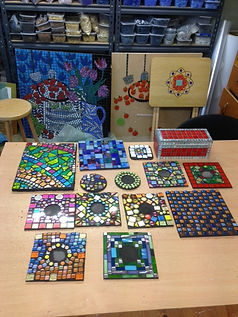 Mosaics in studio December 2015.JPG