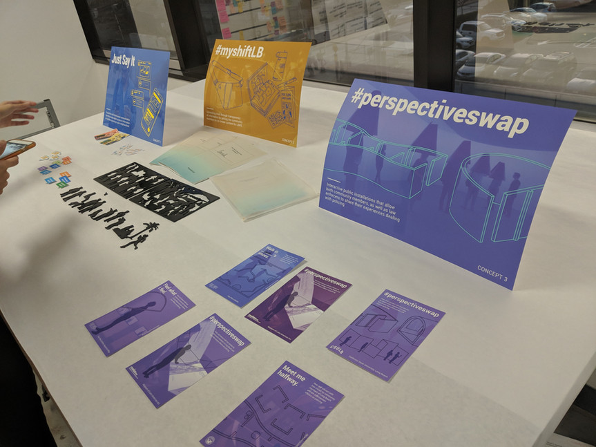 Round 1 concept presentation table display