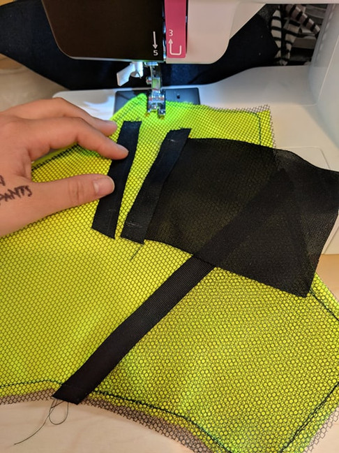 """Sewing a """"secure"""" pocket for small important items. Items shouldn't fall out unless pulled out purposely."""