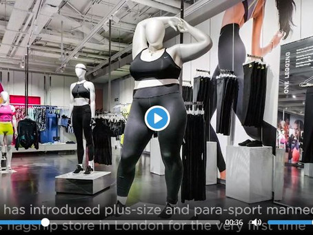Nike introduces plus-size mannequins in London flagship store