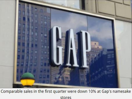 Gap watching China tariff threat as Q1 sales slump